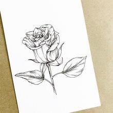 Силиконовые штампы с цветами розы для скрапбукинга «сделай сам»