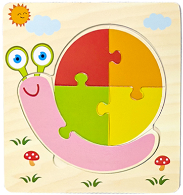 Baby Toys Wooden 3d Puzzle Tangram Shapes Learning Cartoon Animal Intelligence Jigsaw Puzzle Toys For Children Educational 24
