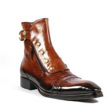 Men ankle boots business dress shoes male man warm