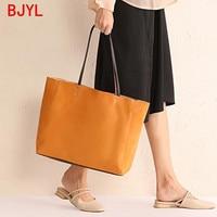 Women's bag new 2020 leather hand ladle shoulder bag simple large capacity handmade female shoudler bag shopping tote bags