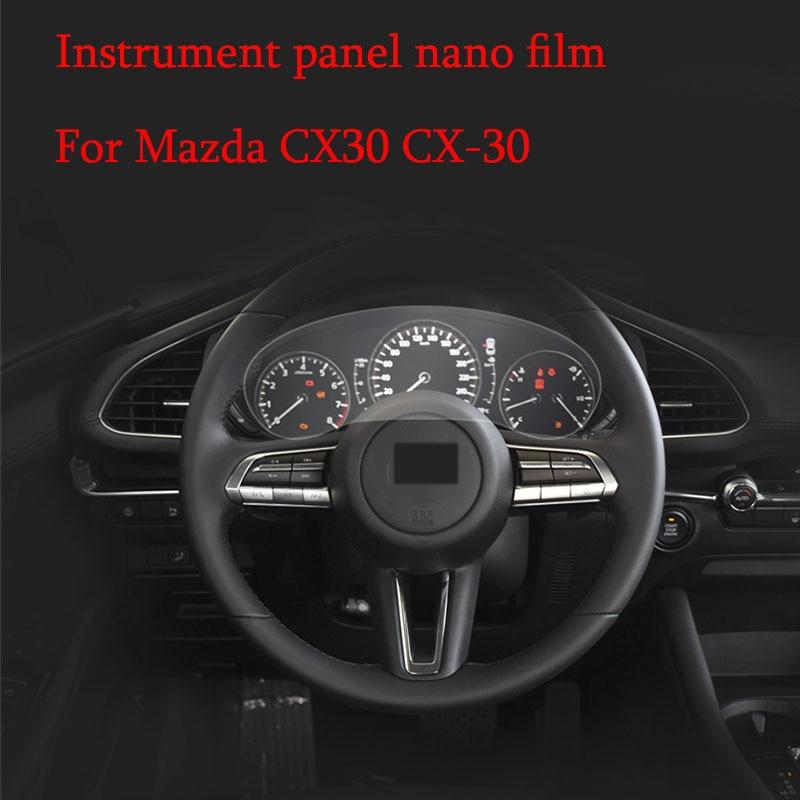 Car Instrument Panel  Membrane For Mazda CX30 CX-30 2020 2019 Dashboard Protective Film Instrument Panel Screen Protector