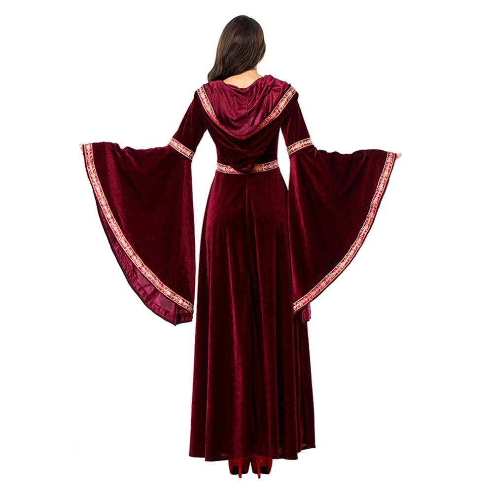 Adult Women Medieval Renaissance Princess Costume Hooded Gown Robe Medieval Dress Drap Sleeves Vampire Dracula Halloween Clothes Buy At The Price Of 28 99 In Aliexpress Com Imall Com