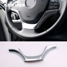 цены For BMW 3 Series F30 F32 320 328 2013-2015 Steering Wheel Sequins Strips Cover Interior Decoration ABS Chrome Trim Styling