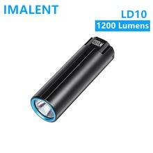 IMALENT-Mini linterna Led LD10, recargable portátil, 1200 lúmenes, lámpara de carga magnética, batería 18350