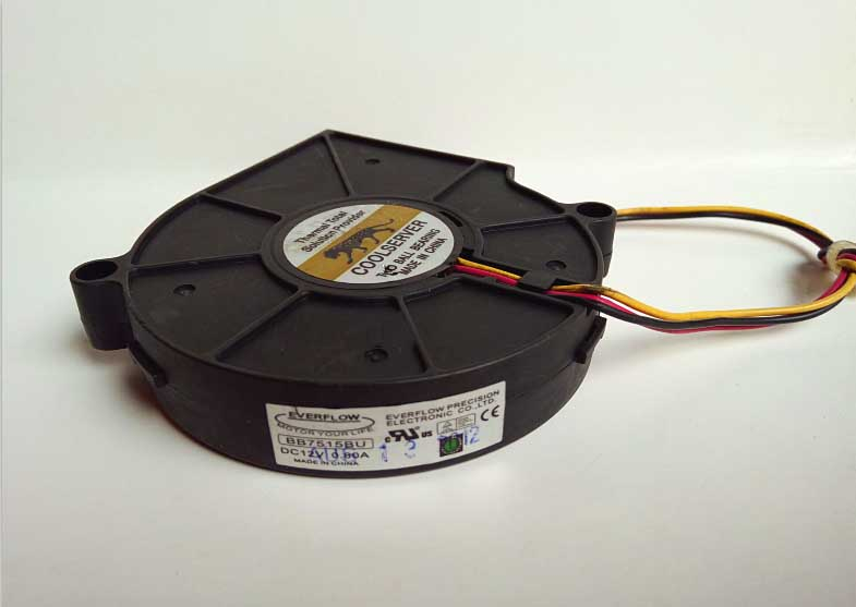 Free shipping BB7515BU For COOLSERVER DC 12V 0.80A 4-Wire Server Blower Cooling Fan