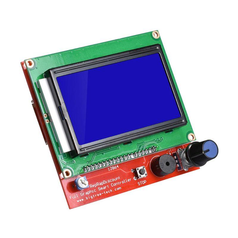 12864 Display LCD 3D Printer Controller +Adapter For RAMPS 1.4 Reprap Mendel Whosale & Dropship