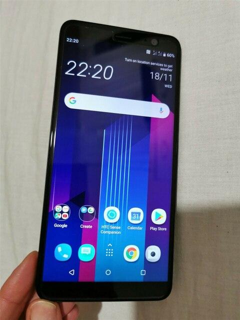 "HTC U11+ U11 Plus 64GB Original Unlocked GSM 3G&4G Android Mobile Phone Octa Core 6.0"" 12MP&8MP 4GB RAM 64GB ROM Fingerprint NFC 4"