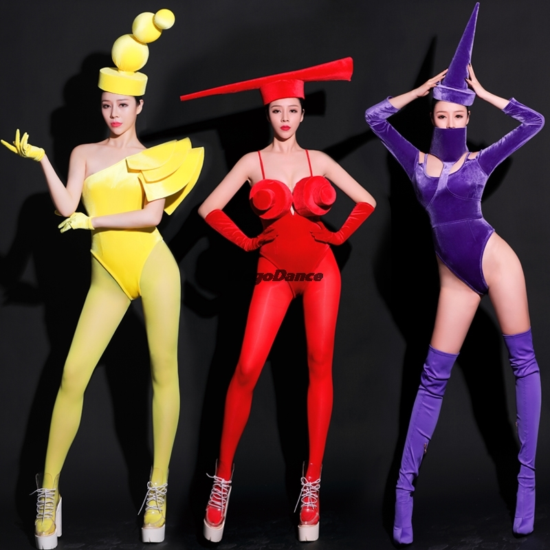 Ds Costumes Singer Dancer Jumpsuit New Sexy Personality Siamese Nightclub Gogo Stage Outfit