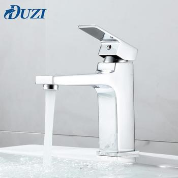 hpb nice design brass bathroom faucet basin hot and cold water mixer taps single hole torneira do banheiro robinet chrome hp3043 Basin Faucets Vanity Chrome Bathroom Sink Single Handle Hot And Cold Water Brass Mixer Taps Matte Black Faucet Basin Taps