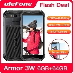 Смартфон Ulefone Armor 3W защищенный, Android 9,0, IP68, 5,7 дюйма, Helio P70, 6 + 64 ГБ, 10300 мА · ч, 4G, Android