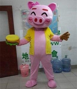 Image 3 - Cartoon Pig Mascot Costumes Adult Size Chef Pig Mascot Costume Cartoon Halloween Carnival Costume Advertising Parade Costumes
