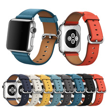 все цены на Cow Leather sport loop strap for apple watch band 44mm 40mm Bracelet Smart Accessories Wrist for iwatch series 1/2/3/4 42mm 38mm онлайн
