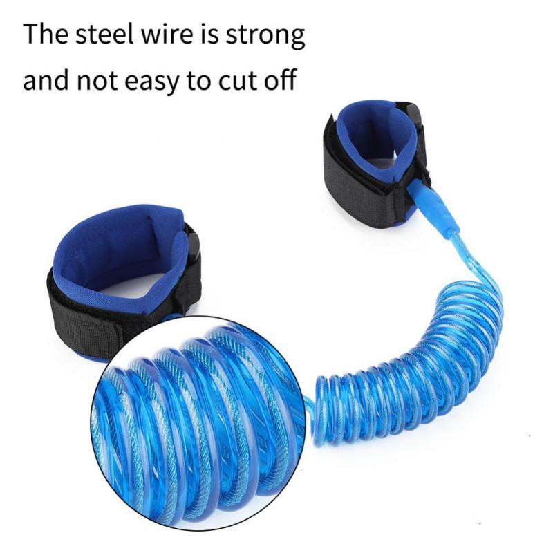 Adjustable Kids Safety Harness Child Wrist Leash Anti-lost Link Children Belt Walking Assistant Baby Walker Wristband 1.5M | Happy Baby Mama