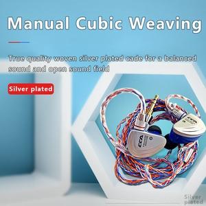 Image 5 - CCA C2 Orange bleu fil argent câble 8 noyau amélioré câble plaqué écouteurs mise à niveau pour ZAX C10 CA4 AS16 AS10 zsn pro ZS10 Pro