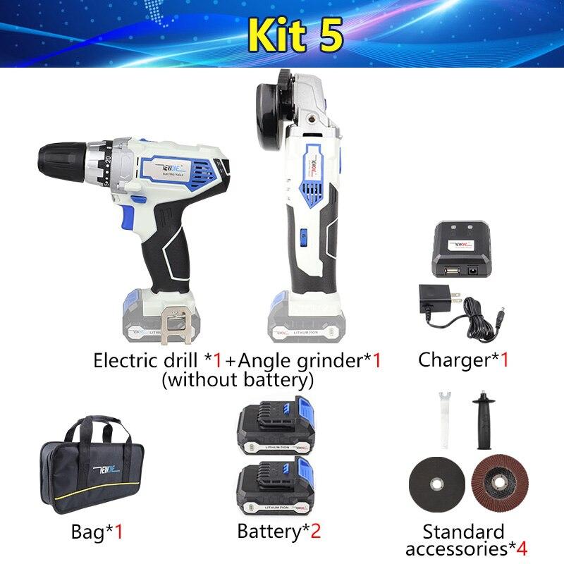 Newone 12V Elektrische Power Tool Li Ion Draadloze Haakse Slijper Reciprozaag Boor Combo Kit Set Met Batterij Voor Snijden - 4