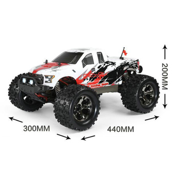 FS Racing 1:10 Bigfoot Car 4WD High Speed Brushless Remote Control Car with Body ESC Motor 2.4G Remote Control - RTR Version 2