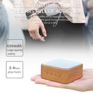 Image 5 - A70 Wood Grain Portable Wireless Speaker Vintage Mini Bluetooth Loudspeaker With Mic Support TF Card FM Radio For Mobile Phone