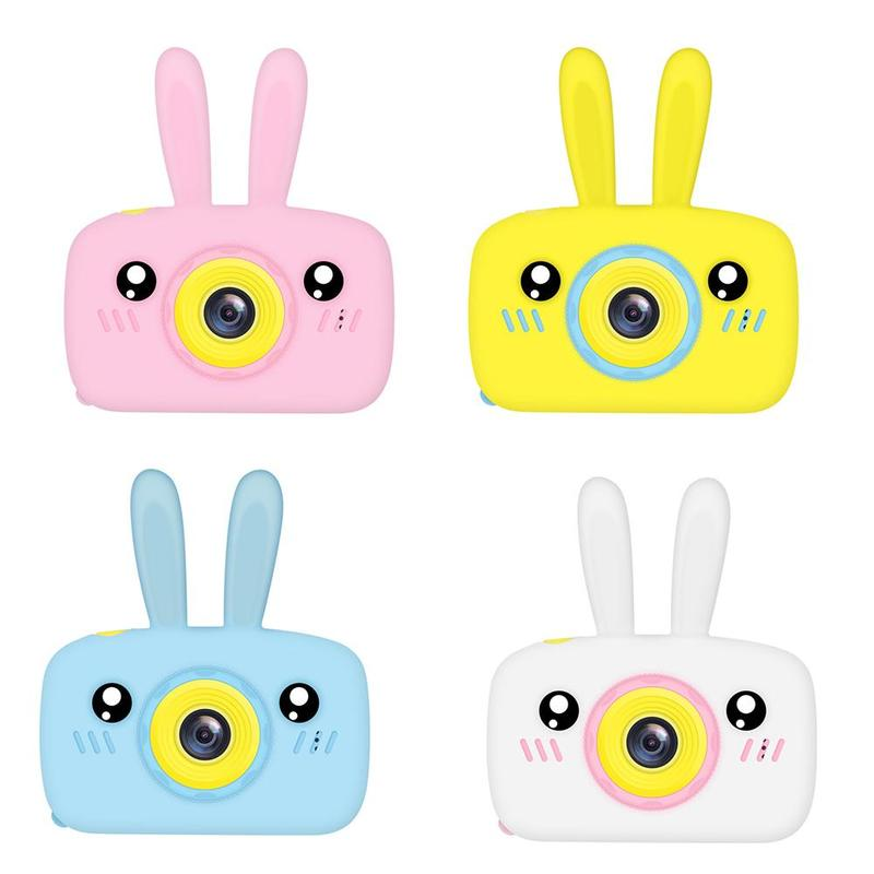 New Kids Mini Camera Toys 2.0 Inch 1920 HD Screen Multi-function Cartoon Cute Camera Children Educational Outdoor Toy Play Gift