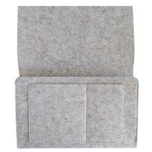 Фетровый Карманный твердый органайзер для планшета прикроватный подвесной держатель для телефона диван домашняя сумка для хранения больших аксессуаров книга простая спальня