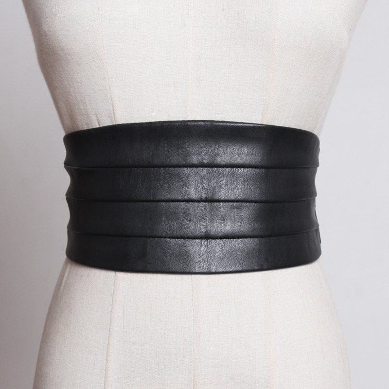 2020 New Fashion Corset Belt For Women Casual All-match Leather Trendy Wide Belt Solid Elastic Waistband Female Hot Sale ZK301