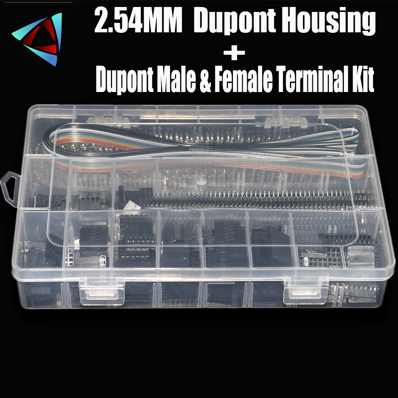 1550Pcs Dupont Connector Terminal Ferrule Wire Hand Tool Set Terminals Clamp Kit Tool