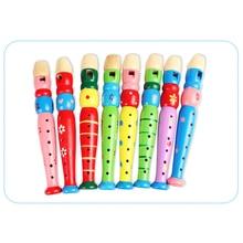 Игрушечный музыкальный инструмент легкий красочный случайный Образовательный детский школьный Крытый портативный Прочный красочный деревянный труба