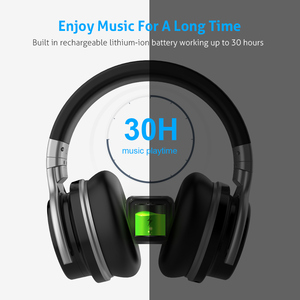 Image 3 - Mighty Rock E7C Aktive Noise Cancelling Kopfhörer Bluetooth Kopfhörer Wireless Headset 30 stunden Über ohr mit mikrofon