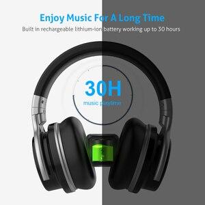 Image 3 - Наушники Mighty Rock E7C с активным шумоподавлением, Bluetooth наушники, беспроводная гарнитура, 30 часов над ухом с микрофоном