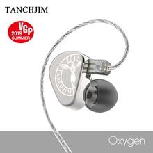 Tanchjim 산소 무대 이어폰 2pin hifi 모니터 금속 iem 3.5mm 귀에 스포츠 동적 dj 게임 이어 버드 탄소 nanotube 다이어프램