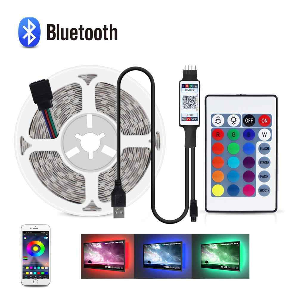 5V USB Kabel Lampu Strip LED TV Backlight Lampu 1M 2M 3M 4M 5M bluetooth Lampu LED RGB Layar Desktop Dekorasi Lampu Tape