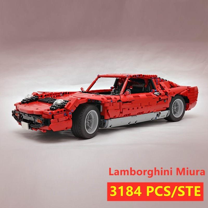 MOC SERIES Lamborghini Miura Super Racing Car Fit LeGINGlys Technic MOC-24294 Model Kits Building Blocks Bricks Toy Kid Gift