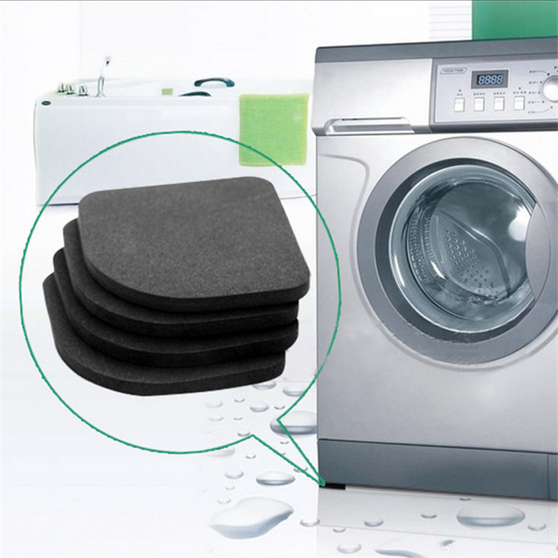 เครื่องซักผ้า Anti-การสั่นสะเทือน Pad MAT Non-SLIP Shock Pads Mats ตู้เย็น 4 ชิ้น/เซ็ตห้องครัวอุปกรณ์ห้องน้ำอุปกรณ์...