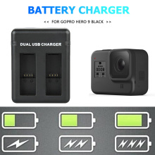 Charger Battery-Pack Smart-Charging-Dock Gopro HERO Black USB for 9 Micro-Usb Type-C