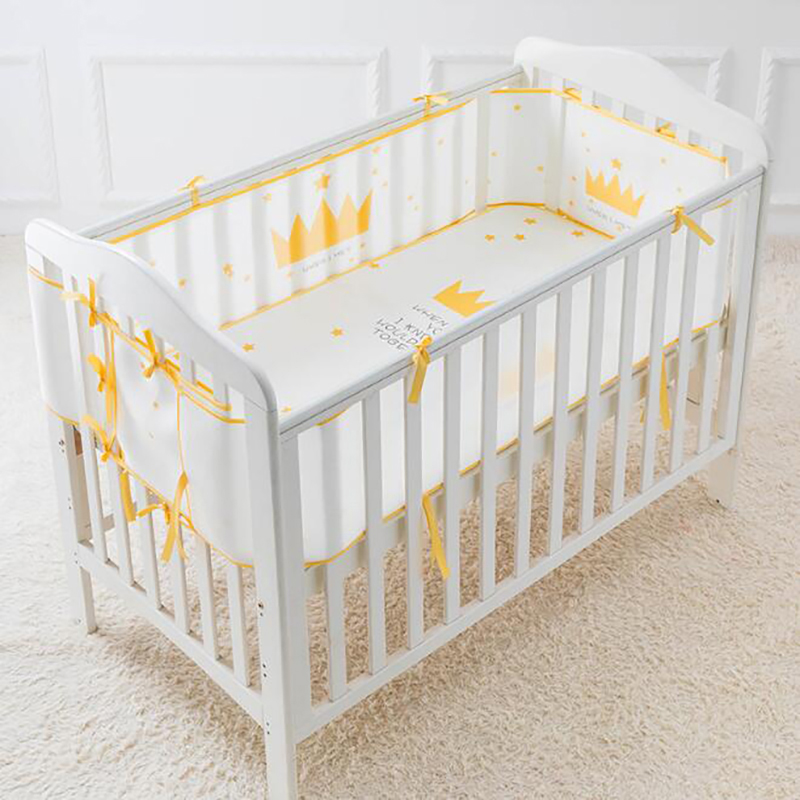 Baby Cot Crib Bumper Cushion Protection Pad Bed Safety Mat Bedding Summer Cool Breathable Decoration