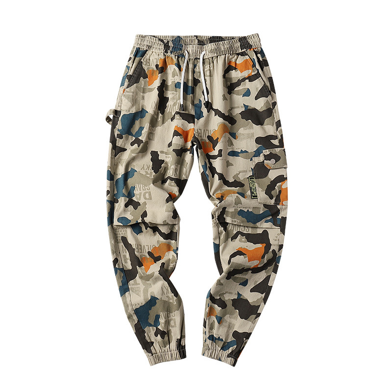 2019 New Men's Camouflage Sweatpants Men's Street Harem Pants Fitness Runners Pants Comfortable Ankle Nine Points Sweatpants