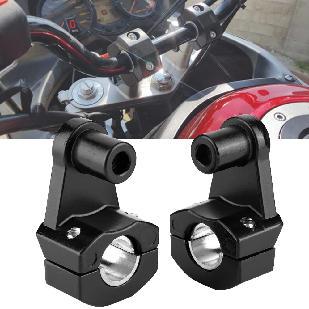 1Pair Motorcycle <font><b>Handlebar</b></font> <font><b>Riser</b></font> Clamp 22mm <font><b>28mm</b></font> 7/8 1-1/8 Motorbike Handle Bar Mount Clamp image