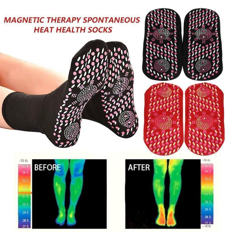Thicken Sports Skiing Cycling Socks Self Heating Magnetic Therapy Warm Sock Tourmaline Health Care Heated Socks For Men Woman