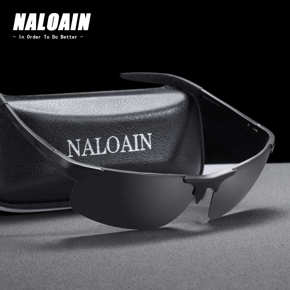 NALOAIN Sport Sunglasses Polarized Lens UV400 Driving Goggles Safety Sun Glasses For Men Women Fishing High Quality