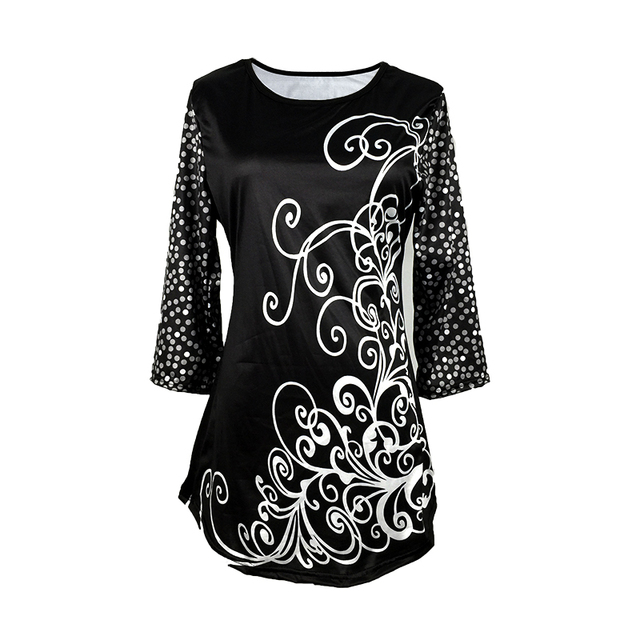 New Elegant Summer Fashion Elasticity Female Casual Loose Ladies print Top Half Sleeve T-Shirt 3