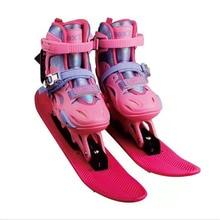 Новое поступление! Детская Лыжная обувь для катания на роликовых коньках, Детские Зимние коньки для катания на коньках, для катания на сноуборде, размер регулируется, европейские размеры от 24 до 39