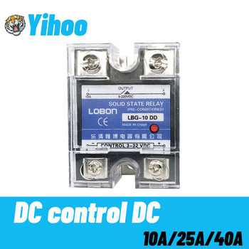 цена на SSR-10DD 25DD 40DD SSR Single Phase DC Control DC Heat Sink 3-32VDC To 5-220VDC 10A 25A 40A DD Solid State Relay