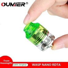 Authentic OUMIER WASP NANO RDTA Tank 2ml 22mm Diameter Atomizer Easy Building Deck & Adjustable Airflow for Box mod vs Zeus X(China)