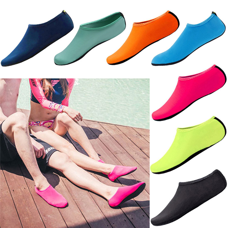 Water Shoes Aqua Shoes Beach Sneakers Unisex Latent Swimming Driving Fitness Leisure Barefoot Seaside Shoes Diving Socks