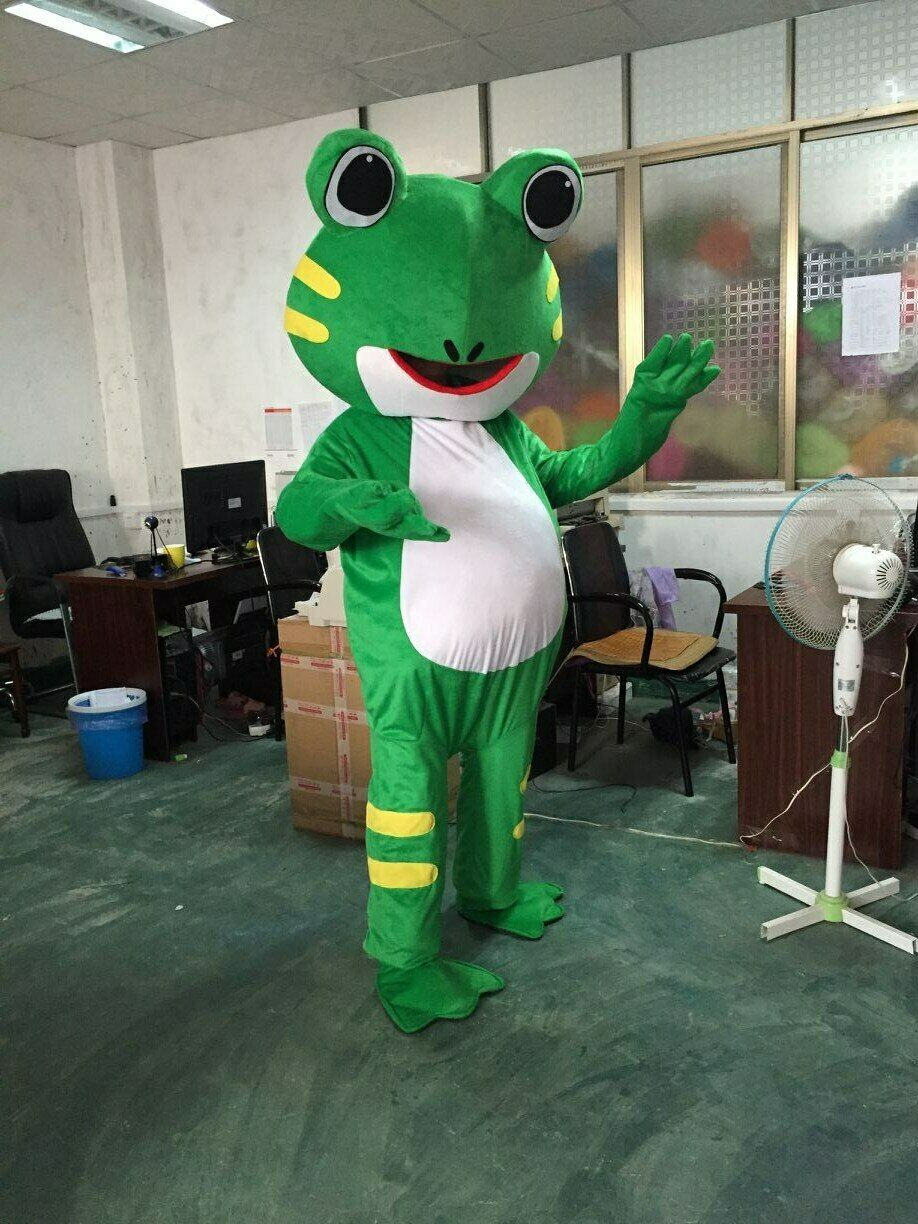 Advertising Frog Mascot Costume suits Adults size Birthday party dress outfits
