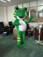 Halloween Frog Mascot Costume Suit Animal Dress Cosplay Party Game Adult Outfits Birthday Cartoon Character Mascot Costume Gift