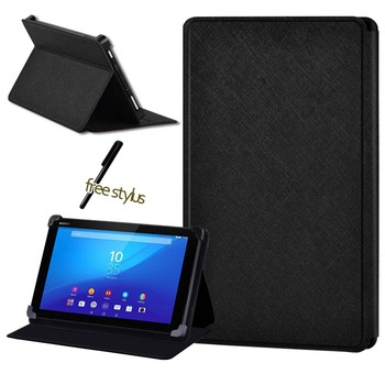 Shockproof Tablet Case for Sony Xperia Z3 8 /Z4 10.1 PU Stand Tablet Leather Cover Case+pen image