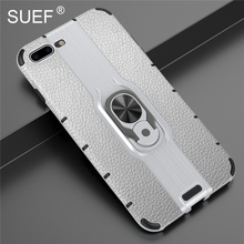SUEF New Arrivals Hard PC+ Soft TPU Back Cover Case For iPhone 7 8 Plus Phone Bag Cases  With Finger Ring Kickstand mercury goospery i jelly finger ring kickstand tpu shell for iphone 7 plus 5 5 red