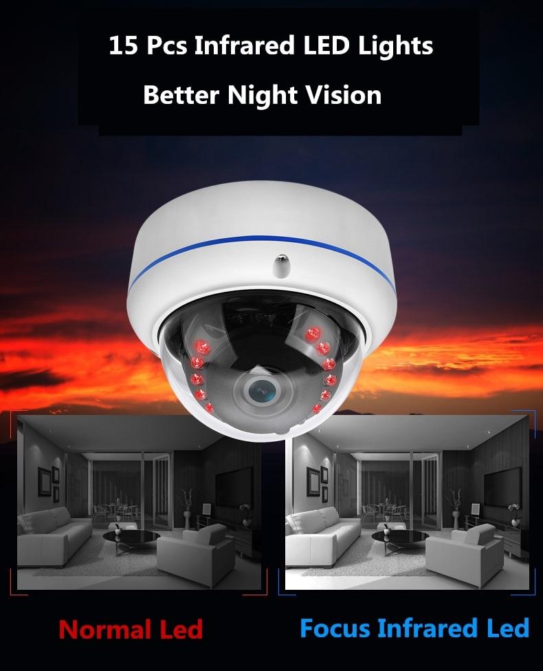 Fisheye 2MP 4MP Infrared AHD Câmera de CCTV com OSD Cabo