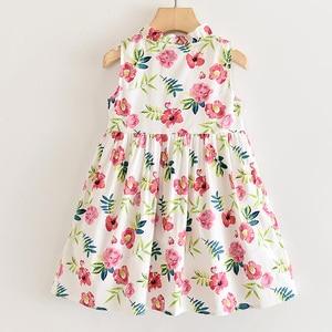 Image 2 - Robes pour filles DD & MM, robe de princesse pour enfants, col rond, vêtements pour enfants, nouvelle collection 2020