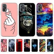 Matowe etui do OPPO Realme 7 Pro etui silikonowe na OPPO Realme Narzo 20 Pro luksusowe, odporne na wstrząsy, miękkie malowane TPU Phone Cover